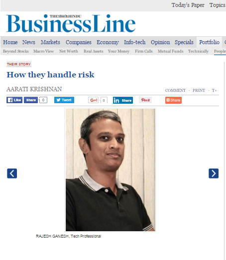 Rajesh Ganesh featured in Business Line